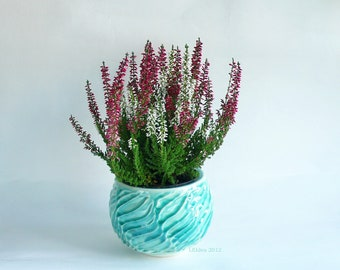 Lake Green Faceted Pot