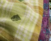 Shades of Autumn Wool Blanket Vintage Hand  Printed
