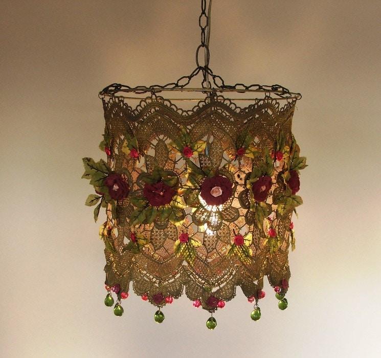 Anat bon 39 s handmade lamp stunning rose garden fantasy by anatbon - Hand made lamps ...