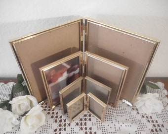 Vintage Gold Metal Frame Collection Set Instant Gallery Paris Chic French Country Rustic Cottage Country Farmhouse Home Decor Wedding Gift