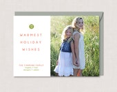 Holiday Photo Card Simple Dot  - PRINTABLE PDF