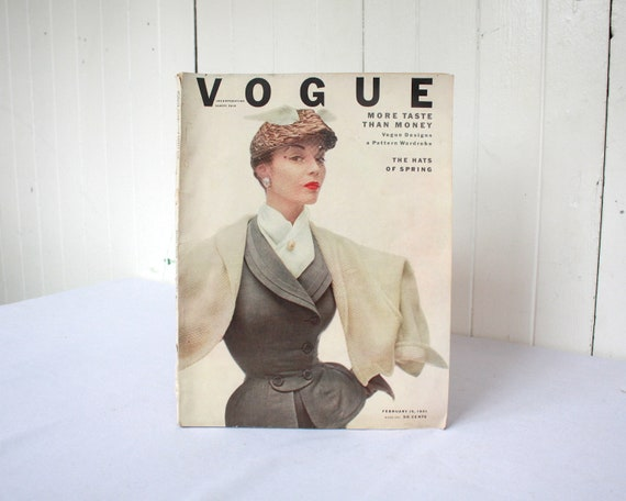 Vintage Vogue Magazine, Complete Vogue Magazine, 1950s Vogue, Fashion, Advertising, American Vogue, Chanel