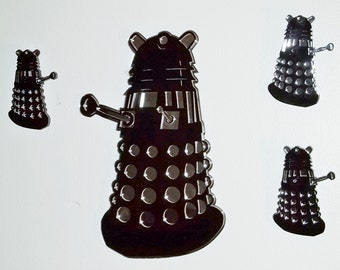 Large Dalek Wall hanging- Acrylic with Mirrored back