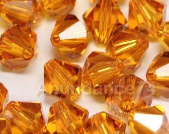 Clearance Sale - 12pcs Swarovski Elements - Swarovski Crystal Beads 5301 8mm Bicone Beads - Topaz