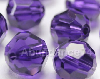 Swarovski Elements Crystal Beads 5000 Round Ball Beads PURPLE VELVET - Available in 6mm and 8mm