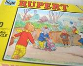 "Rupert The Bear ""Shopping Day"" 80 Piece Jigsaw Puzzle 1973"