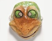 Paper mache frogmask
