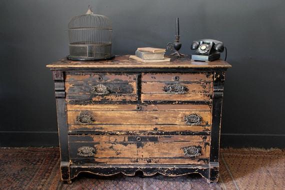 Antique Steampunk Dresser Bureau By Canalsidestudio On Etsy