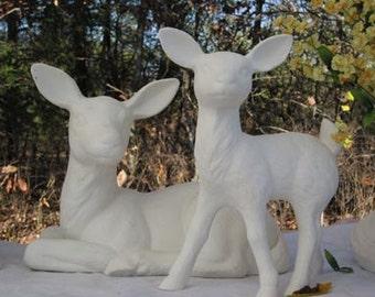 Set, Deer, Fawn, Deer Statue, Wildlife Statue, Garden Statue, Garden