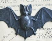 Bat Brass Stamping, Black satin Finish