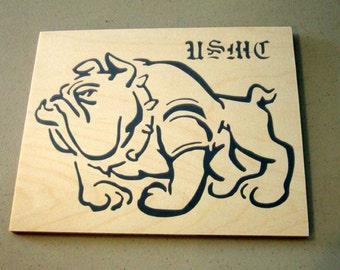 U.S. Marine Corp Bulldog - Marine Plaque - Bulldog Plaque