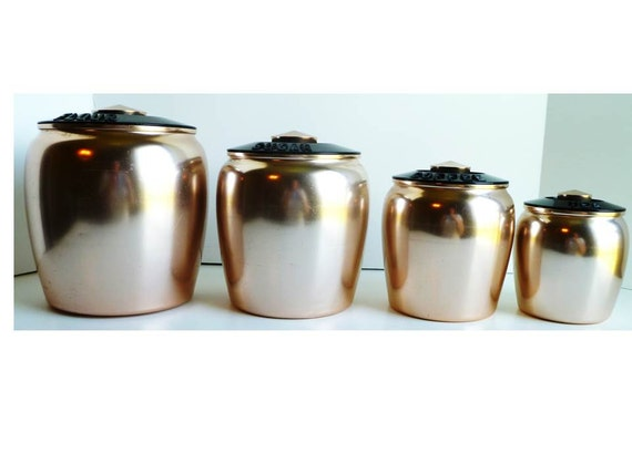 Copper Canisters Kitchen Vintage