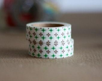 Washi Tape - Dailylike Masking Tape -  Green Star Tape