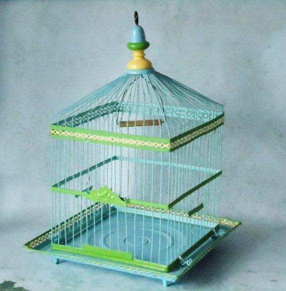 Antique Wire Bird Cage - Vintage Birdcage - Crown Birdcage - Bird Cage Planter - Wedding Card Bird Cage