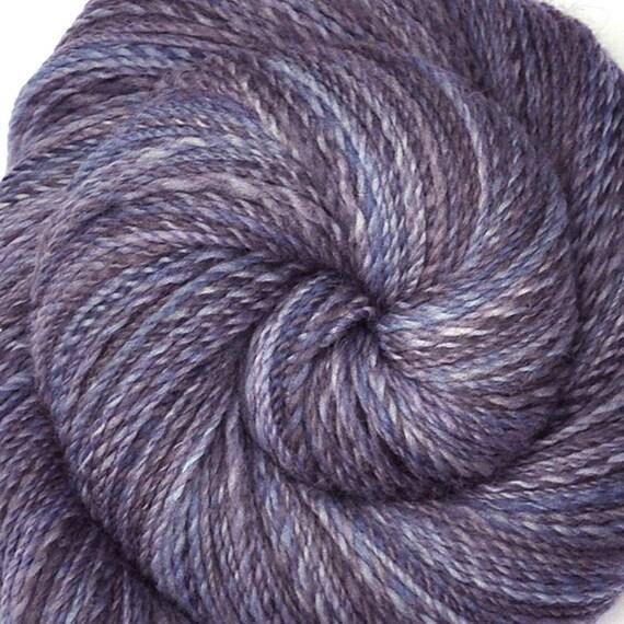 Handspun yarn - HEATHERED GRAY-  Handpainted Falkland wool, fingering weight, 450 yards