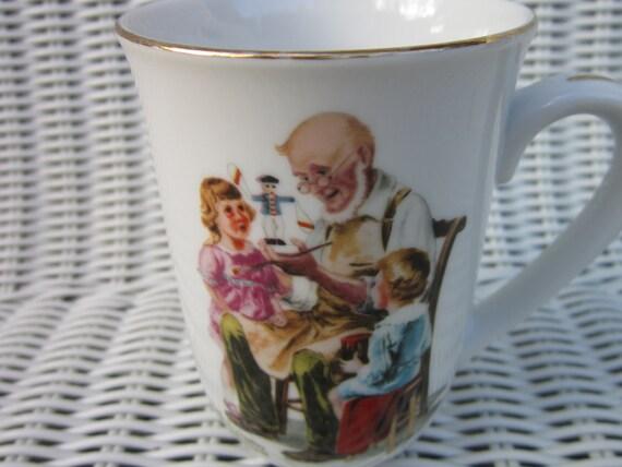 Vintage Mug The Toymaker Norman Rockwell