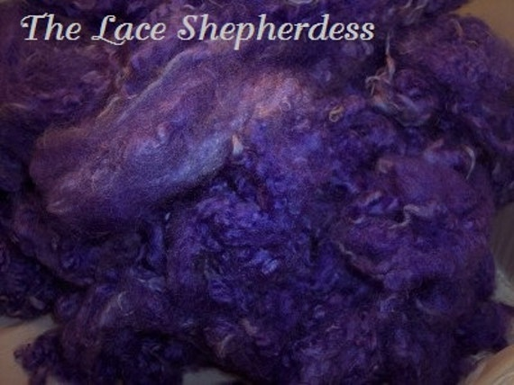 Hand dyed Coopworth wool. 10.4 ounces. Sweet Violet