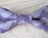 Newborn, Infant/Toddler, Youth bowties - Lavender purple chevron stripes, Easter photo prop father son sibling sets ring bearer groomsmen