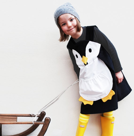 Girls penguin play dress,costume,1y,2y,3y,4y,5y