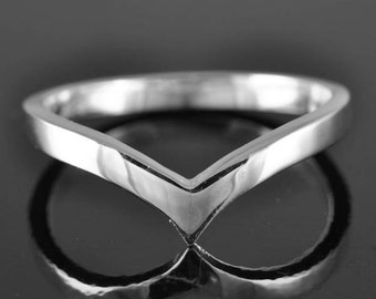 wishbone ring, sterling silver ring, knuckle ring, midi ring, stacking ring, personalized ring, infinity ring, chevron ring
