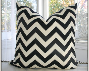 Pair (2) Chevron Indoor-Outdoor Pillow Covers / Choose size and color