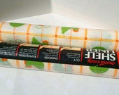 Rubbermaid Shelf Liner 70's chicken print, green and orange contact paper