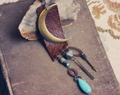 sophia. a moon and earth-inspired boho leather necklace.