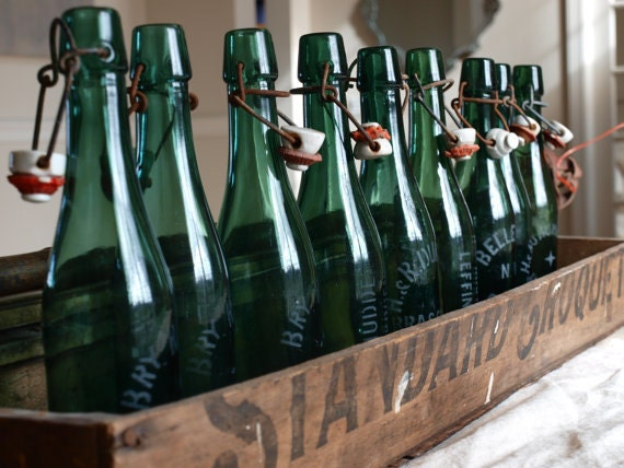 VINTAGE EUROPEAN Bottles...With Stoppers