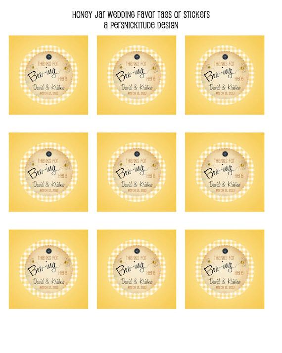 jar favor tags or labels DIY printable