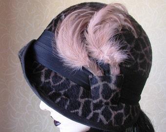 Gorgeous animal print cloche hat
