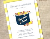 Seafood Boil Couples Shower or Rehearsal Dinner Invitation 5x7 (printable file)
