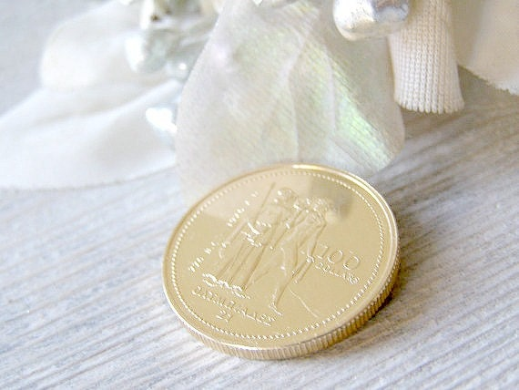 1976 Canadian Olympic coin, 100 dollar, collectible gold coin, Christmas gift for dad