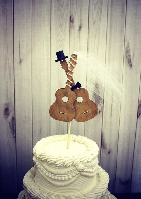 wedding cake topper man with guitar guitar wedding cake topper musician wedding by 26352