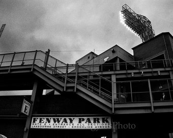 Black White photo, Fenway, Home of the Boston Red Sox, 8x12 fine art photography, StrongylosPhoto, office decor, man cave