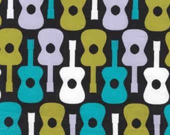 Lagoon Groovy Guitars From Michael Miller Fabrics