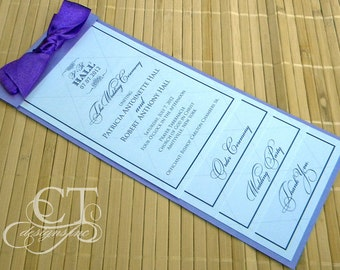 Waterfall Wedding Program - Tiered Pages