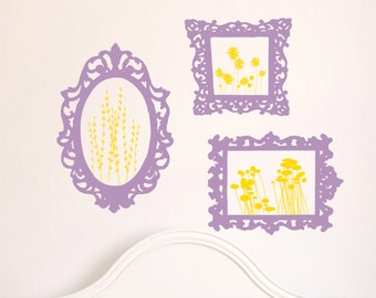 Wall Decal  Frames - Playroom Wall Art - Nursery Wall Decals - Playroom Decor
