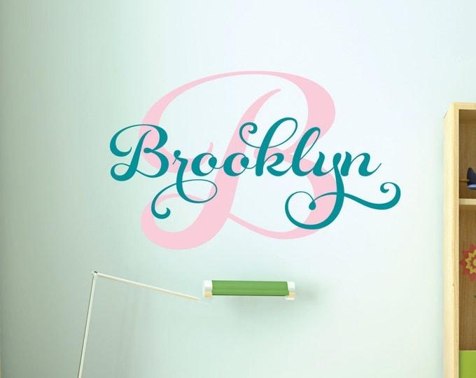 Girls Custom Name Wall Decal // Custom Monogram Decal // Girls Bedroom Decal // Personalized Girls Name Decal // Girls Name Art