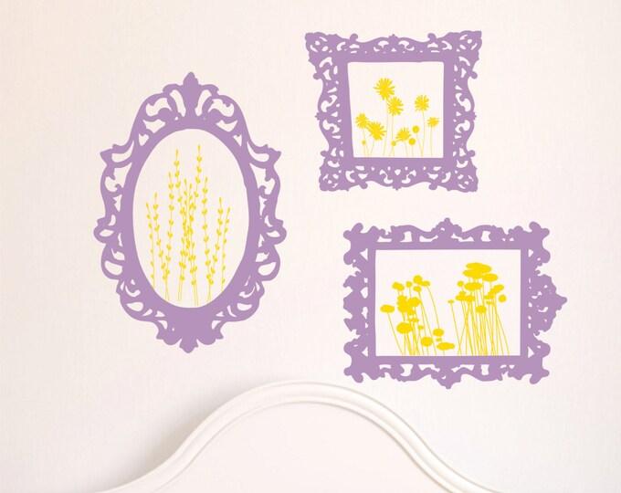Wall Decal  Frames - Playroom Wall Art - Nursery Wall Decals - Playroom Decor