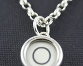 Typewriter key jewellery - letter O vintage typewriter key set in solid silver  -  silver belcher chain necklace.
