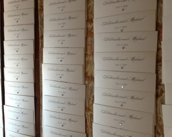 Simple but Elegant Menu Cards with Bling..