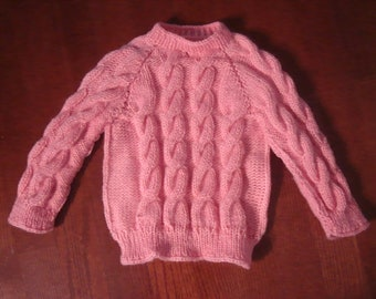 Girl's Handknitted Sweater Size 4T, Pink, Lovely & Brand New