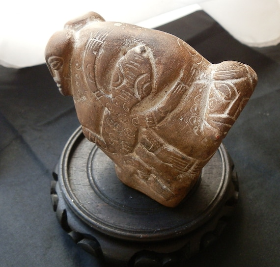 Maori tribe carved stone artifact s polynesian