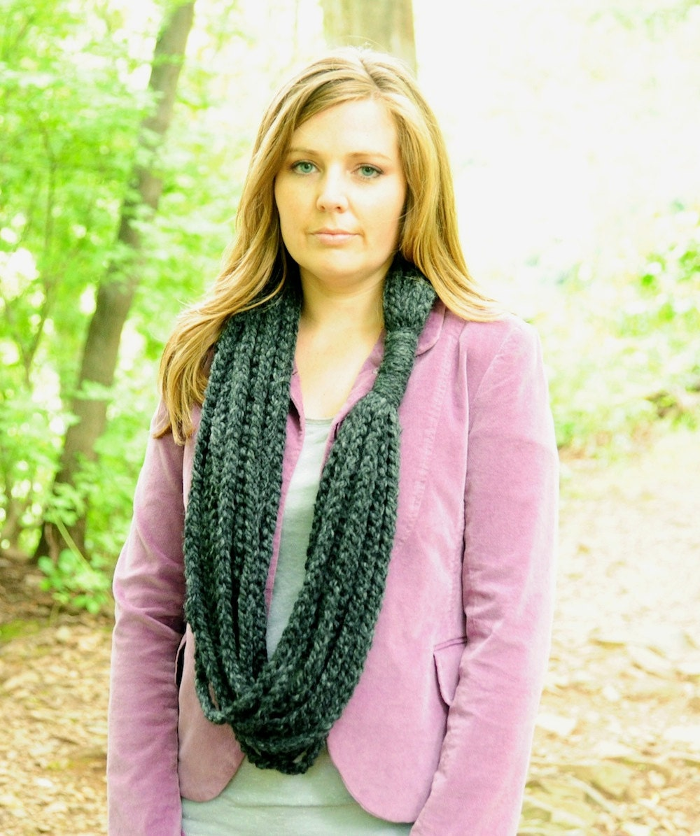 Crochet Cowl for Women Chain Scarf Infinity Scarf Neck Warmer  Neck Scarves Crochet Patterns