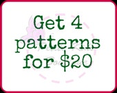 Get 4 patterns for USD20 - Bundle promo - PDF patterns & Instruction - Easy sew Dress, Skirts for Girls and toddler