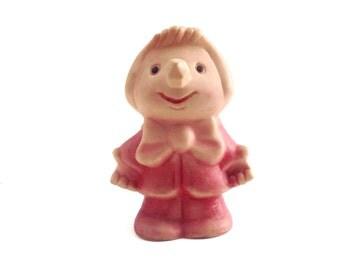 RUBBER TOY Pencil nose, unique toy for vintage nursery