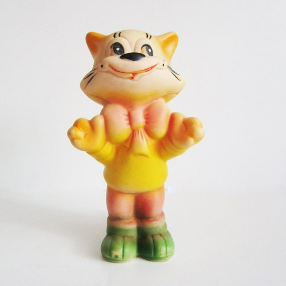 Leopold the Cat rubber toy. Use him for assemblage, mixed media or to keep company.