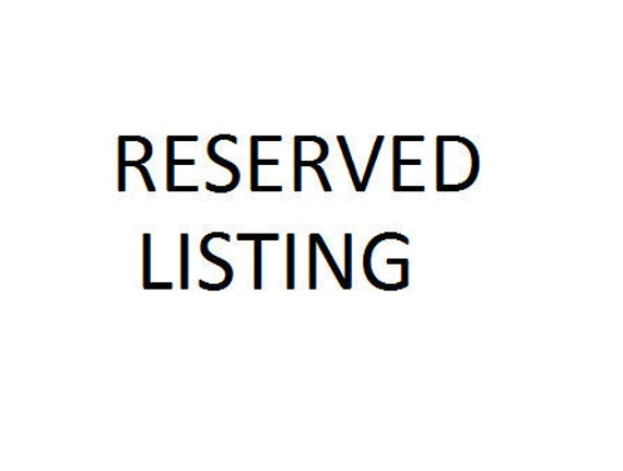 Reserved listing for Arlene Kock