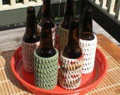 6-pack of Crocheted Bottle Cozies in Earth Tones
