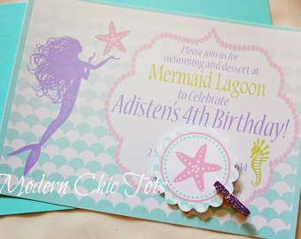 Mermaid/Under the Sea Party Invitations